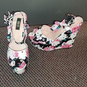 Iron Fist bunny unicorn wedge heels